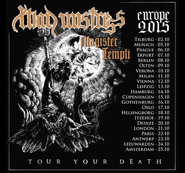 """Christian Mistress announces """"Tour Your Death"""" European Tour 2015"""