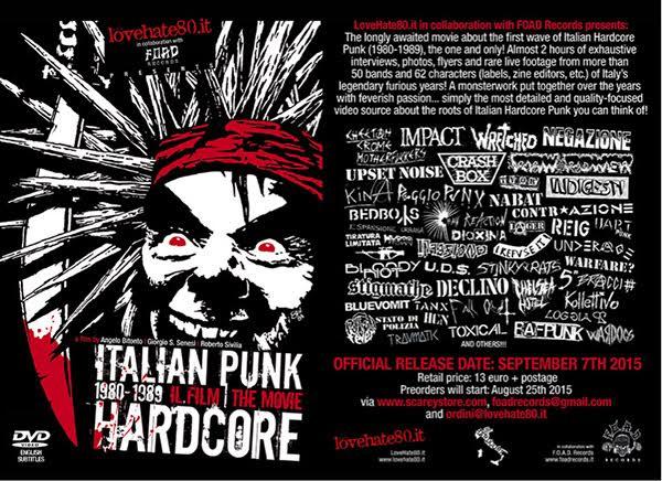 Venerdì sera il Bloom di Mezzago (MB) ospiterà la proiezione del documentario 'Italian Punk Hardcore 1980-1989, Il Film | The Movie'