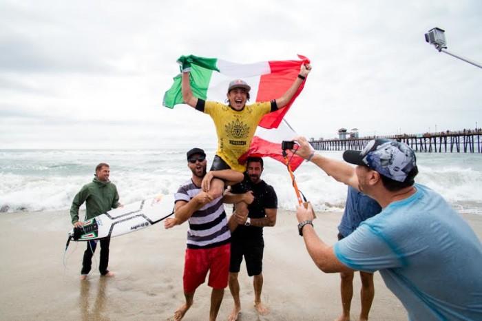Leonardo Fioravanti è Campione del Mondo di surf under 18