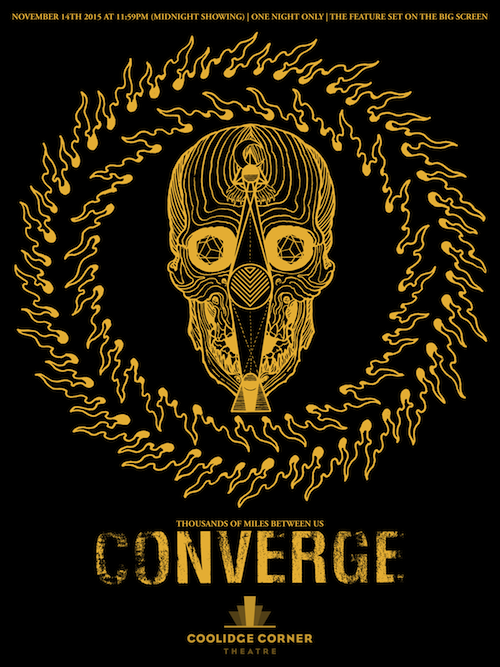 Converge 'Thousands Of Miles Between Us' screening at the Coolidge Corner Theatre on 11/14