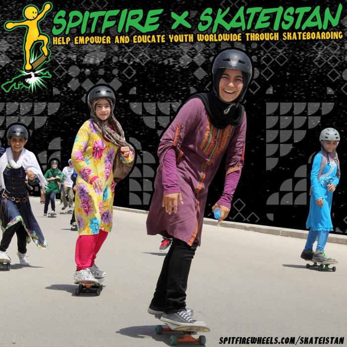 New Spitfire X Skateistan wheel designed by Lance Mountain