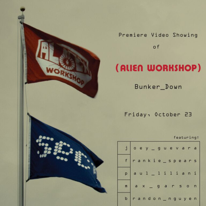 Video premiere Alien Workshop 'Bunker Down'