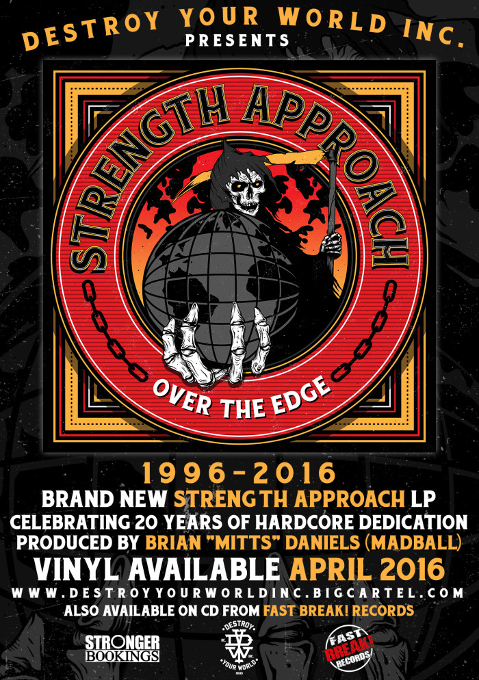 STRENGTH APPROACH 'OVER THE EDGE' VINYL OUT APRIL 2016