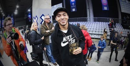 Winner of XGames Skateboarding in Oslo, Nyjah Huston