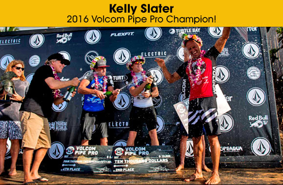Kelly Slater – 2016 Volcom Pipe Pro Champion!
