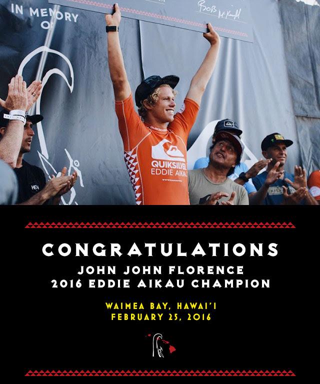 John John Florence vincitore del Eddie Aikau