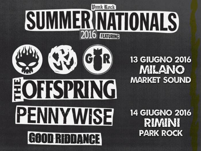 The Offspring in italia insieme a Pennywise e Good Riddance! 13 giugno Milano Market Sound, 14 giugno Rimini Rock Park!