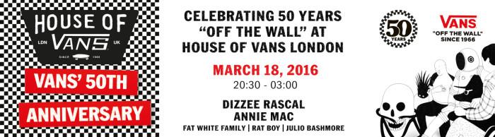 Vans 50th Anniversary celebrations, London lineup announced