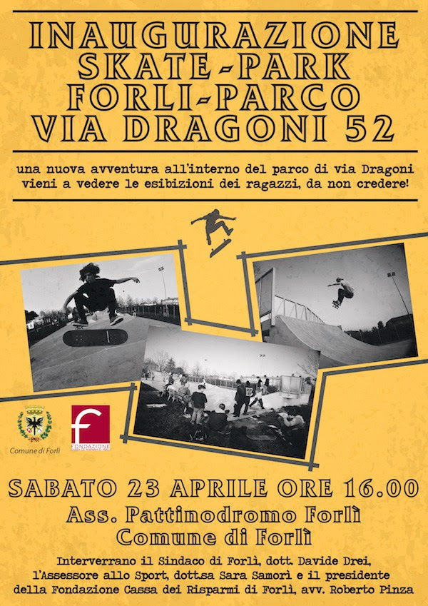 Inaugurazione nuovo Skatepark Forlì