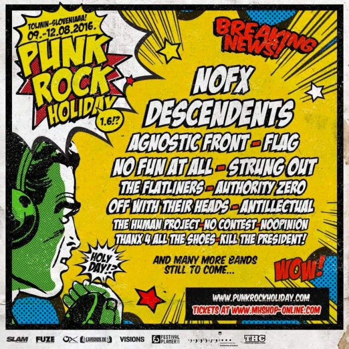 PUNK ROCK HOLIDAY 1.6 09-12 AUGUST 2016 TOLMIN – SLOVENIA