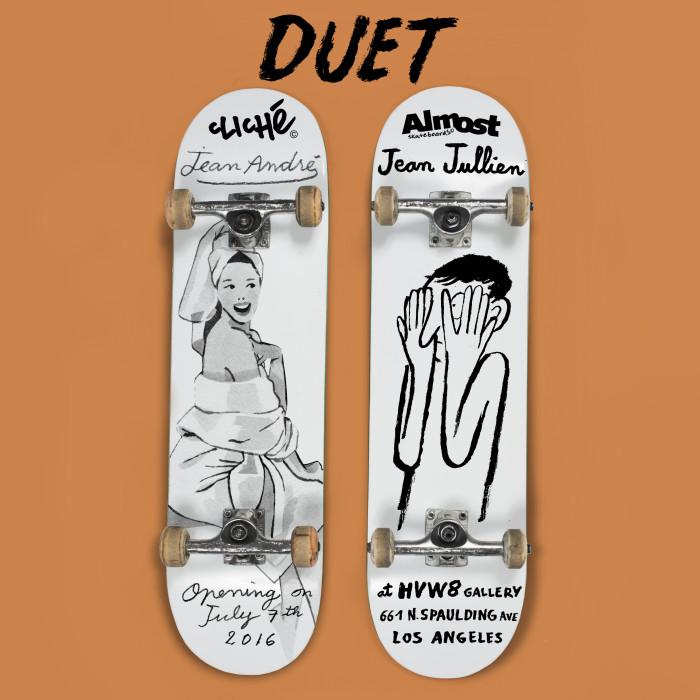 Duet – Jean Jullien & Jean Andre @HVW8 Art + Gallery