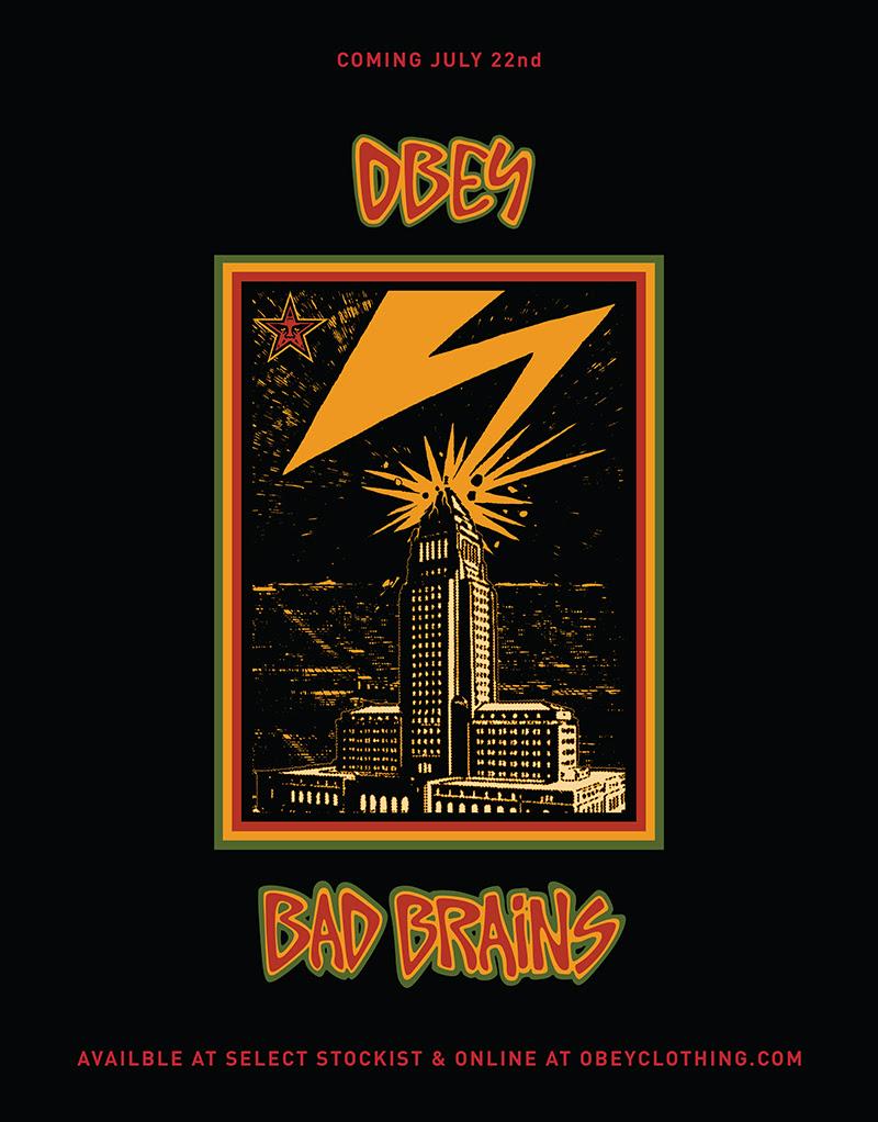 Bad Brains X Obey T shirt