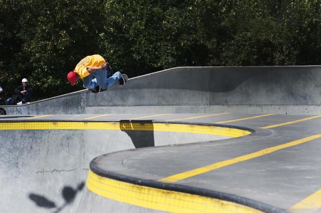 Ishow Wair, backside air at CPH Open