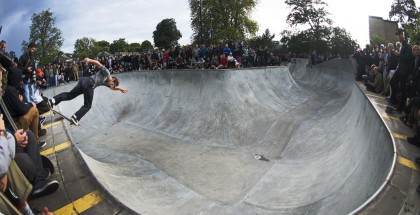 Sam Beckett backside lipslide at CPH Open