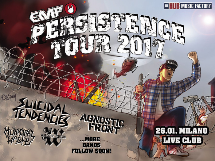 Persistence Tour: si aggiungono Municipal Waste e Walls Of Jericho!