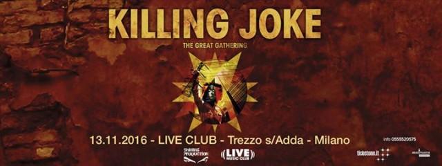 Killing Joke @ Live Club, Trezzo (Bg), 13 Novembre 2016 – Live Report