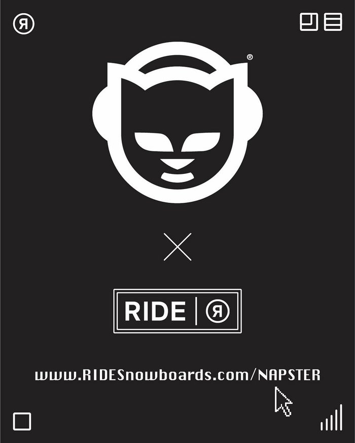 Ride Snowboards x Napster