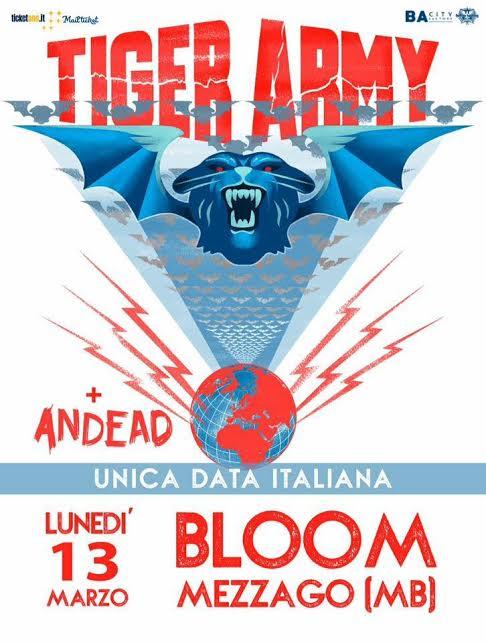 Tiger Army unica data italiana!