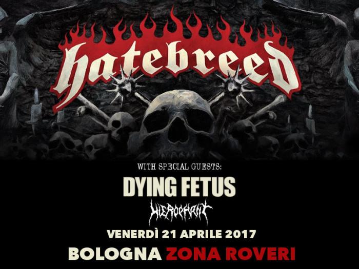 Hatebreed a Bologna: completano la line-up gli Hierophant