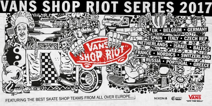 9bde239ee2e17b Vans Shop Riot Series continues to lead the way in promoting grassroots  Skateboarding in Europe