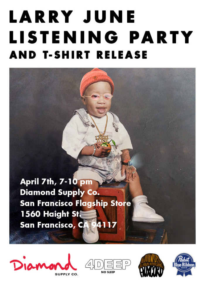 Diamond x Larry June In-Store event and T-Shirt release