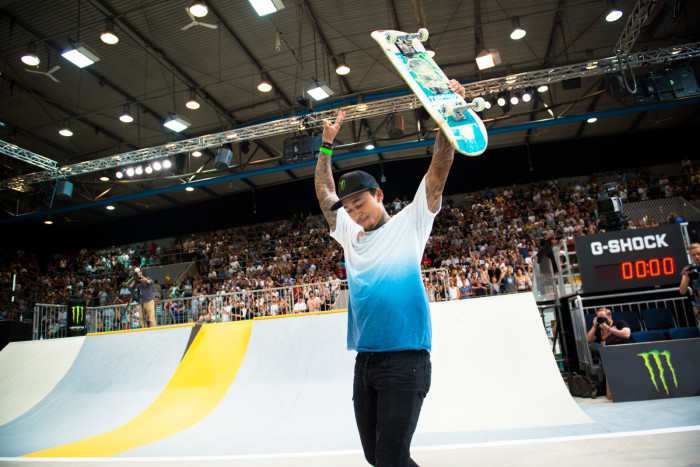 Nyjah Huston takes 1st place at SLS Nike SB World Tour Munich