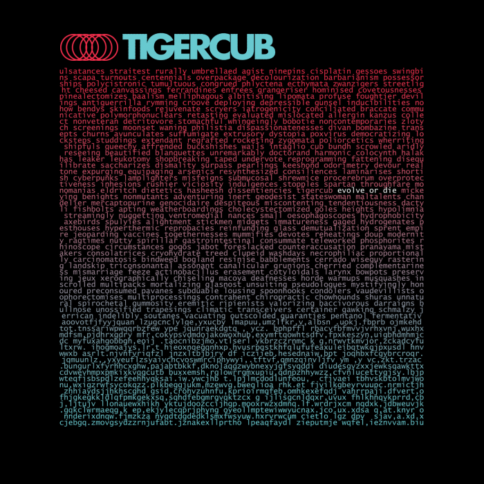 Tigercub 'Evolve Or Die'