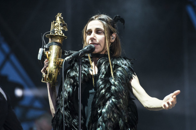 PJ Harvey performs on Todays festival
