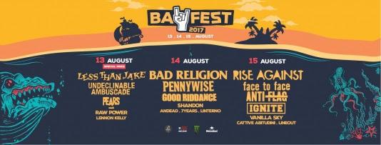 Bay Fest – 13,14,15 agosto: pochi giorni al Ferragosto punk rock per eccellenza!