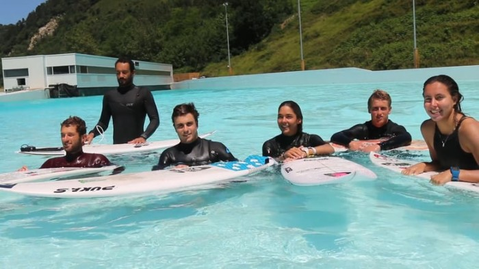 National Surf Teams train at the Wavegarden Cove