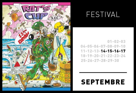 2017: 15° edition de La Rat's Cup / Surf & Music Festival 14, 15, 16, 17 Sept, Côte des Basques, Biarritz
