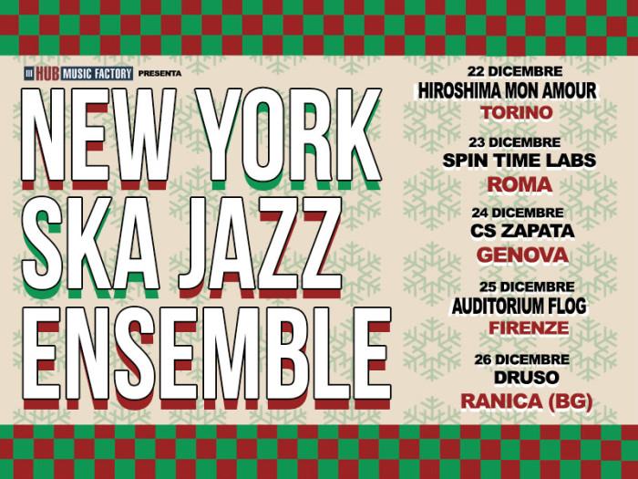 New York Ska Jazz Ensemble: nuova data a Firenze!