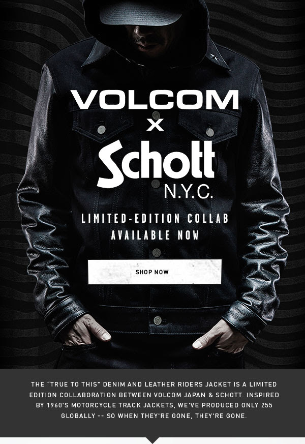 Exclusive Volcom Japan X Schott Rider's Jacket