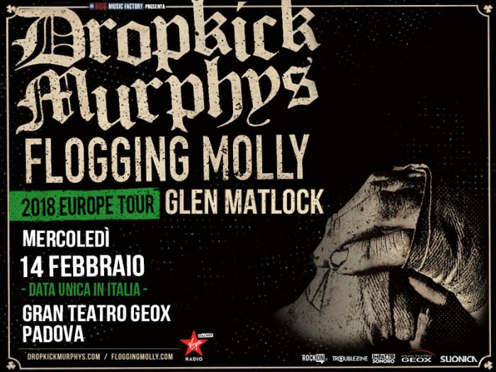 Dropkick Murphys e Flogging Molly assieme a Glen Matlock: meno di due mesi al grande ritorno!