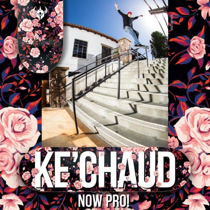 Ke'Chaud Johnson now Pro x Darkstar Skateboards