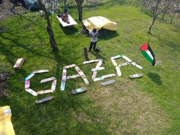 Restiamo umani – Una minirampa in calcestruzzo per Gaza City