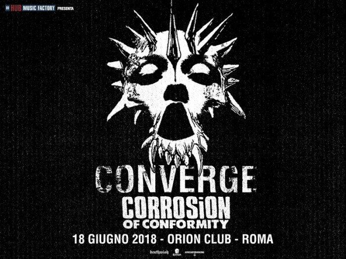 Converge: una data a Roma assieme a Corrosion Of Conformity