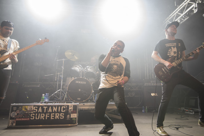 Satanic Surfers performs in Milan