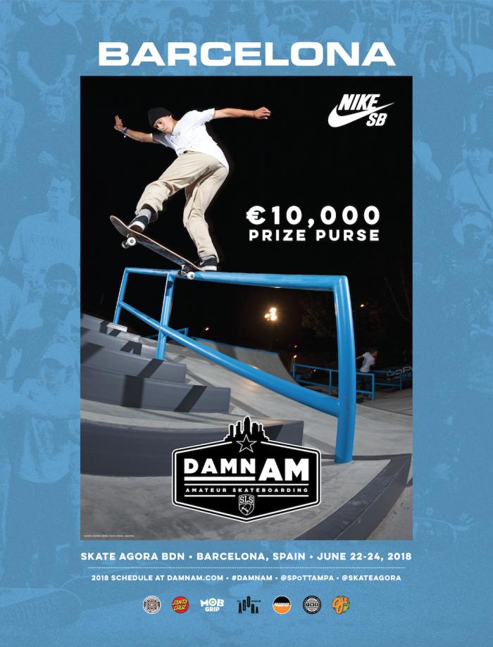Damn Am on June 22-24 at Skate Agora BDN Barcelona