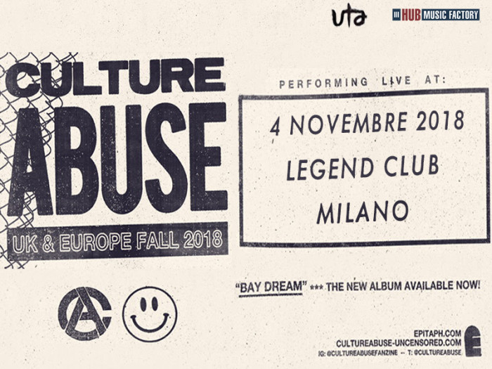 Culture Abuse: la nuova scommessa di Epitaph Records in Italia a novembre per un'unica data!
