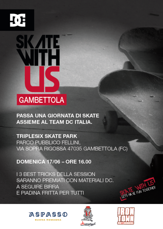DC Skate With Us approda a Gambettola