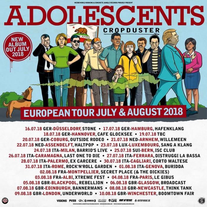 Adolescents – 'Queen Of Denial' (Album Track) – Concrete Jungle Records