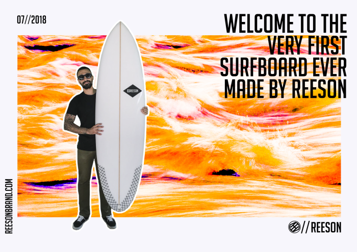 REESON PRODUCES ITS FIRST TOP QUALITY SURFBOARD