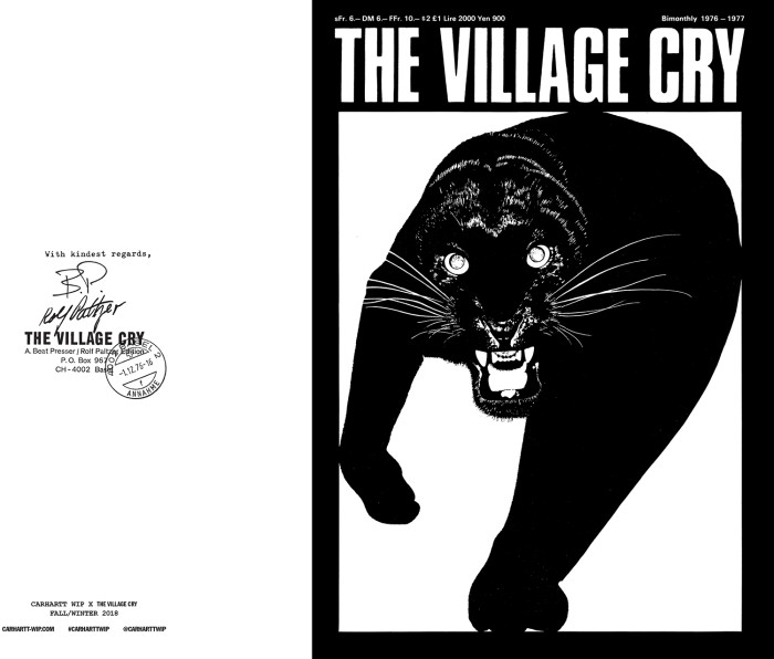 "CARHARTT WIP LANCIA ""THE VILLAGE CRY""  CAPSULE COLLECTION"