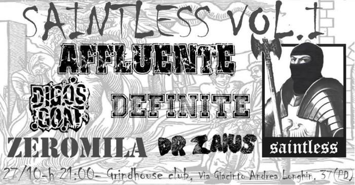 Affluente + Digos Goat + Definite + Zero Mila + Dr. Zaius @Grind House Club (PD), 27/10/2018