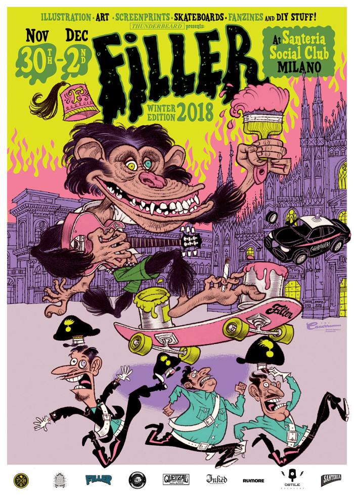 Milano c/o Santeria Social Club dal 30/11 al 02/12 torna Filler con l'edizione invernale della convention d'illustrazione e grafica underground
