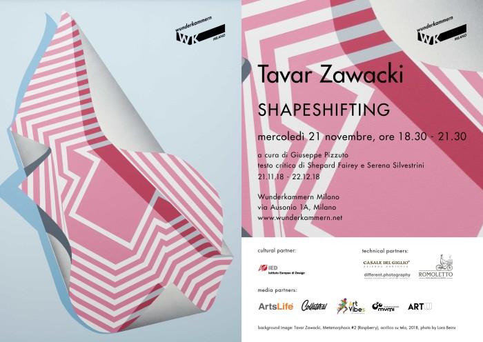 WK Milano | Tavar Zawacki – SHAPESHIFTING | Opening 21 novembre 2018