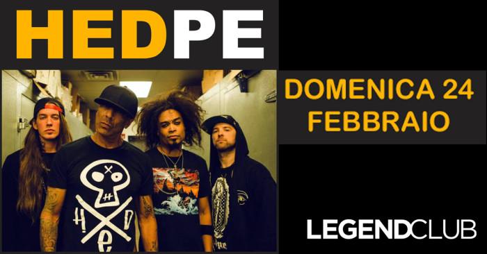 Direttamente da Huntington Beach, California, l'alternative metal band(HED) P.E.@ Legend Club Milano