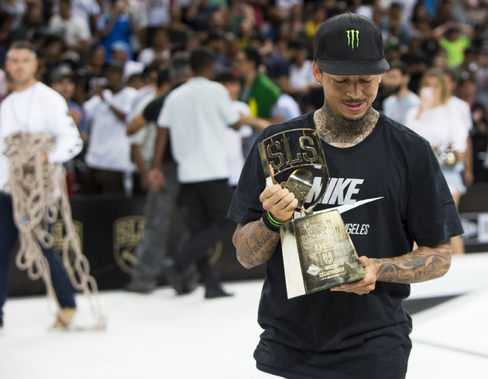 Nyjah Huston takes 1st place at the 2018 SLS World Championship in Rio de Janeiro
