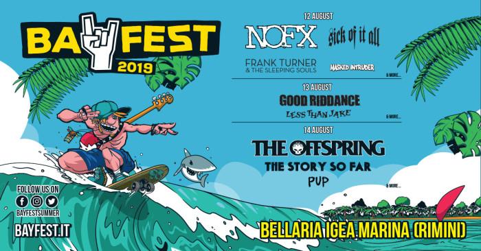 Bay Fest 2019 – Nuovi nomi per il festival: Good Riddance, Pup e Masked Intruder